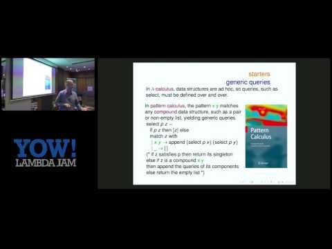 YOW! Lambda Jam 2017 Barry Jay - Beyond Lambda-Calculus: Intensional Computation