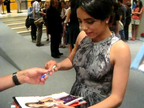 Hafsia Herzi signing autographs at Cannes film festival 2011