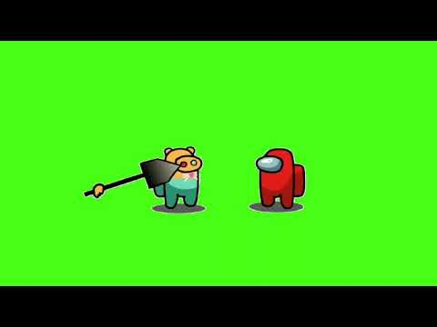 #shorts Among Us: Piggy Jumpscares Kill animation//Green Screen//By UnExpector