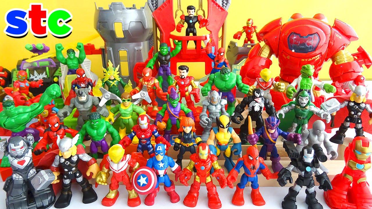 Marvel Super Hero Adventures Collection Playskool Superheroes Youtube