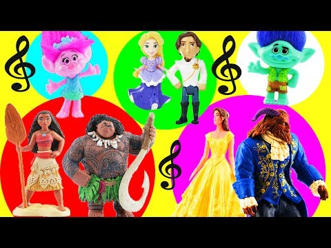Thumbnail: Moana & Maui Host a Couples Singing Competition for Trolls Poppy & Branch Belle Beast Anna Kristoff!