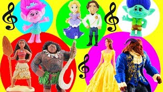 Moana & Maui Host a Couples Singing Competition for Trolls Poppy & Branch Belle Beast Anna Kristoff!