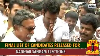 Nadigar Sangam Elections : Final List of Candidates Released spl hot tamil video news 08-10-2015