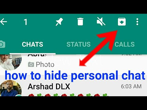 How To Hide Whatsapp Personal Chat / Contact.whatapp Trick 2019