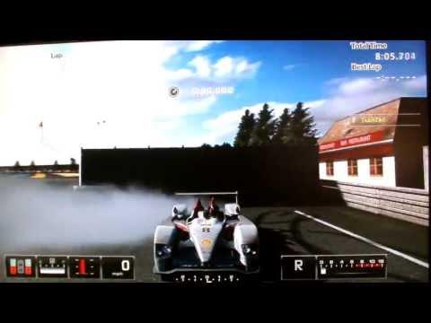 GT5 Hacked Audi R10 TDI Race Car (835mph)