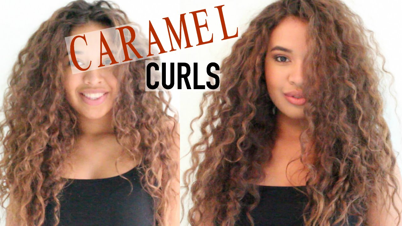 Dying My Curly Hair Dark Brown To Light Brown Youtube