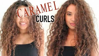 Dying My Curly Hair | Dark Brown to Light Brown