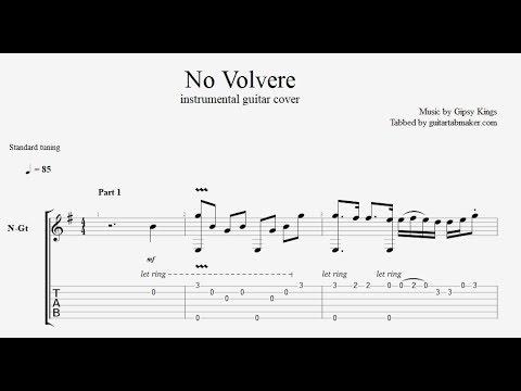 Gipsy Kings - No Volvere TAB - instrumental acoustic guitar tab - PDF - Guitar Pro