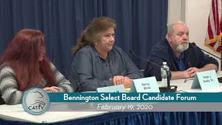 2020 Bennington Select Board Candidate Forum // 2-19-20