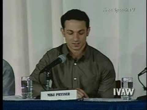 Winter Soldier Mike Prysner testimony, Pt1