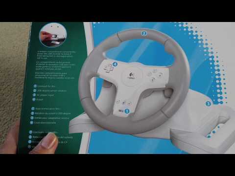 eafb9e89210 Wii Logitech Speed Force Wireless Force Feedback Racing Wheel Need For Speed  Undercover 2017 - YouTube