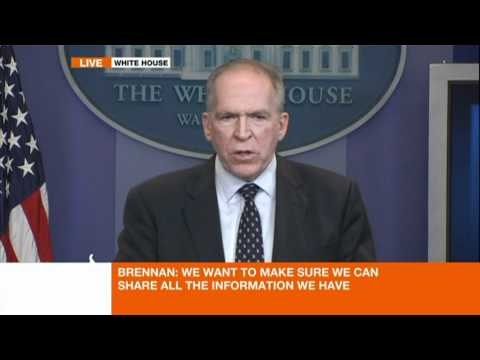 US Deputy National Security Advisor John Brennan speaks to the media