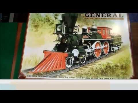 "MPC (Round2) 1:25 locomotive ""General"" Unboxing and Review"