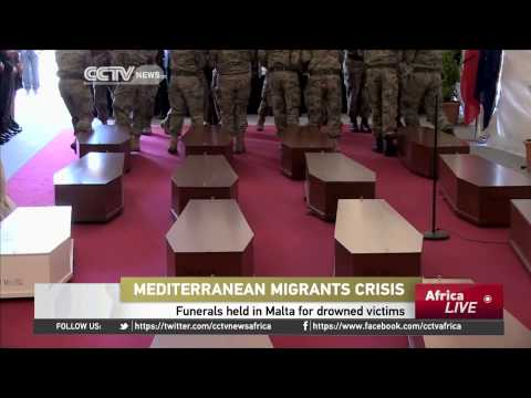 Migrants Crisis: Funerals Held In Malta for Drowned Victims