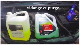 TUTO vidange et purge liquide refroidissement twingo C3G