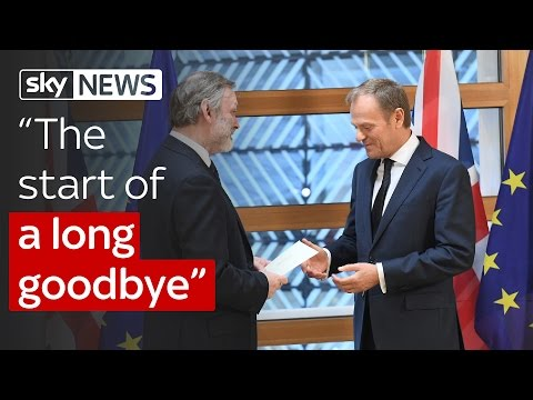 "Article 50 triggered: ""The start of a long goodbye"""