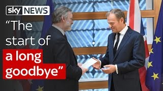 Article 50 triggered: 'The start of a long goodbye'