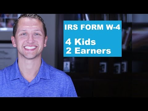 """<span class=""""title"""">IRS FORM W-4 4 Kids Two Earners</span>"""