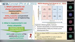 IHE Delft 💧 Motivation and Ability Framework Webinar Series -  MOTA Applications