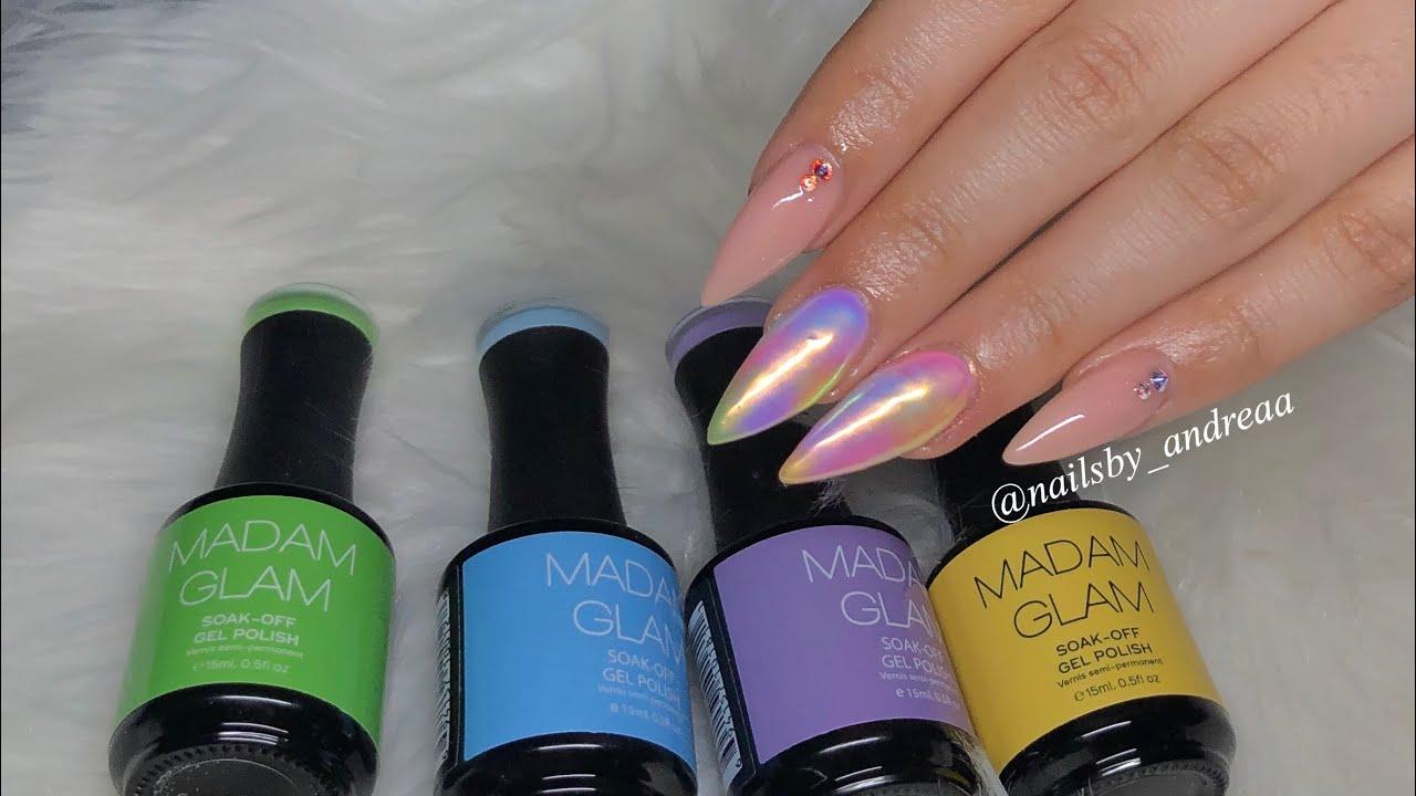 Tie Dye Nails Using Madam Glam Gel Polishes   Acrylic ...