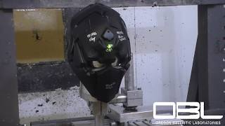 .44 MAG NIJ LEVEL 3A LAB TEST, Aluminum Witness And Clay BFS. DEVTAC RONIN FULL BALLISTIC HELMET