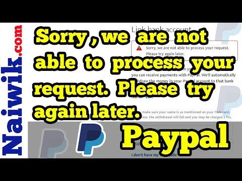 Fix | Sorry we are not able to process your request  Please try