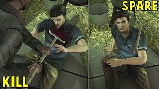Kill Danny in Front of Clem Vs Spare Him -All Choices- The Walking Dead