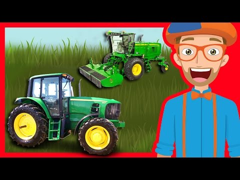 Tractors and Trucks for Children by Blippi | Educational Videos for Kindergarten