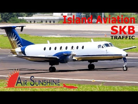Air Sunshine Beech 1900 arrival and departure from St. Kitts Airport !!!