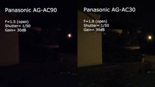 low light comparison panasonic ag ac90 vs ag ac30