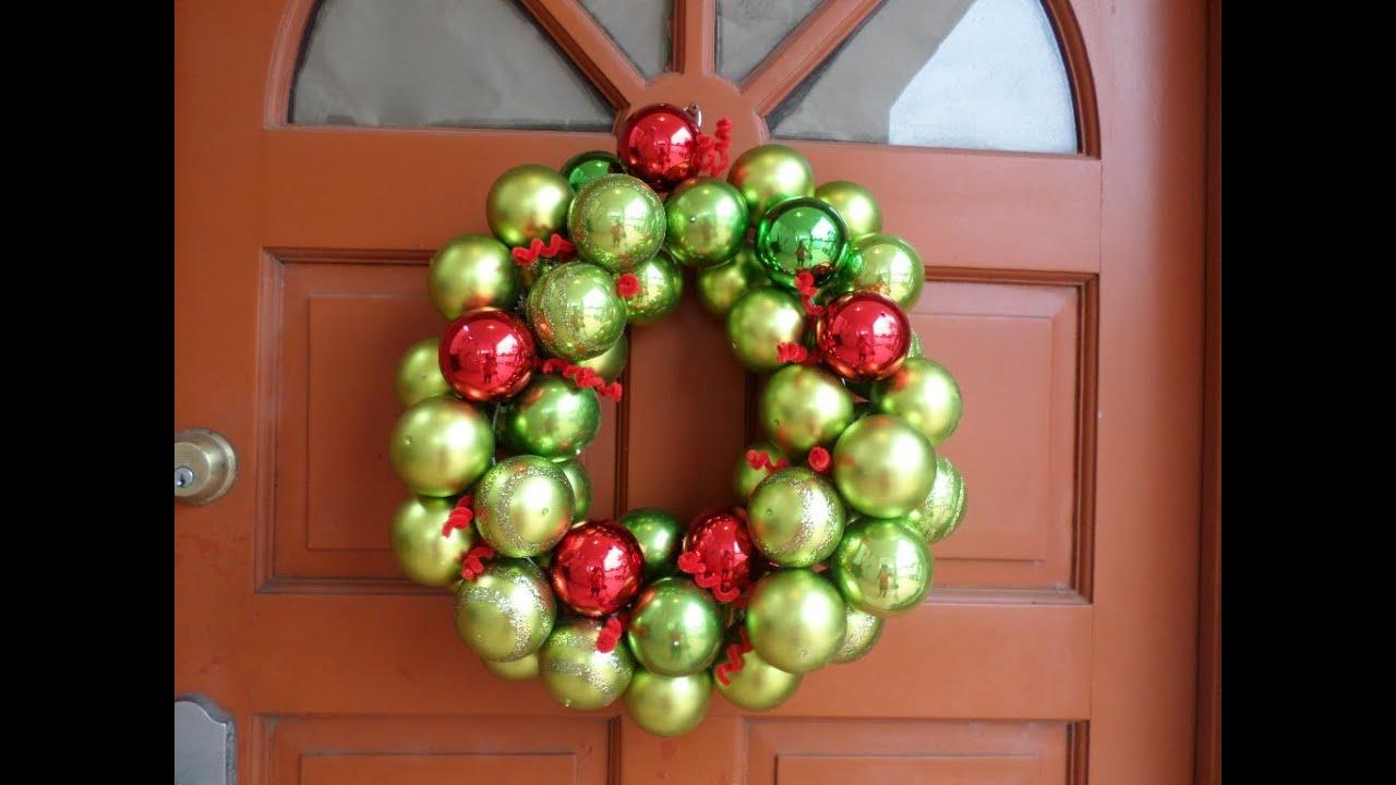 Diy corona de esferas para navidad diy christmas ornament - Esferas de navidad ...