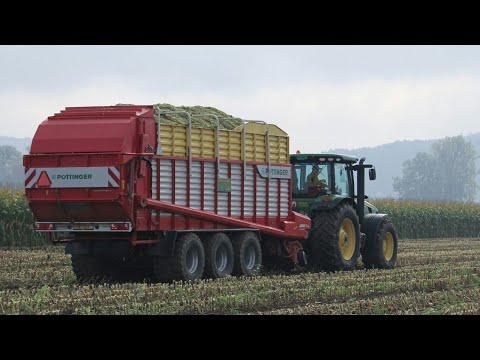 Ensilage de Maïs en Suisse 2016 / NEW John Deere 8400 / Fendt 828, 724