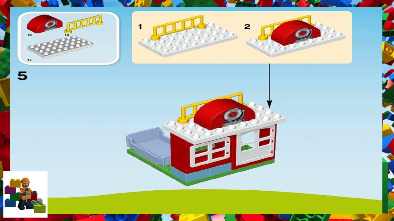 Lego Instructions Duplo Fire 10593 Fire Station Youtube