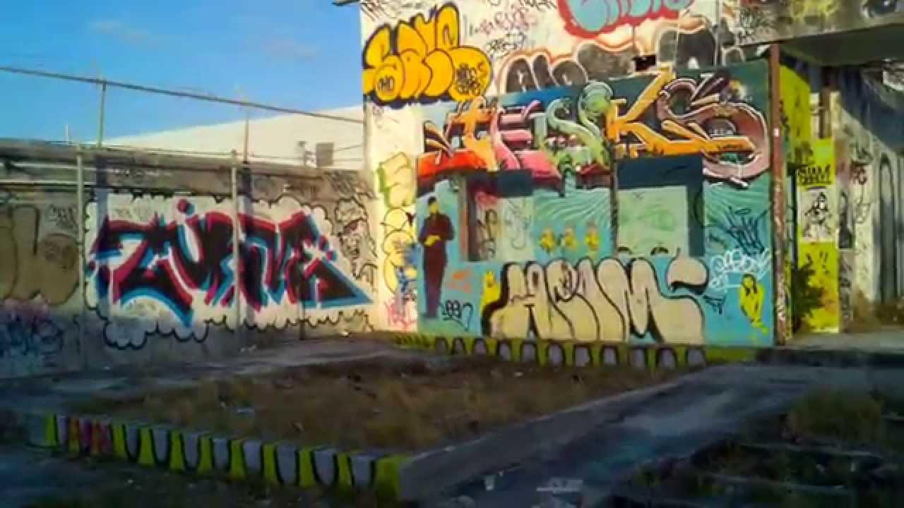 Miami design district graffiti art walls