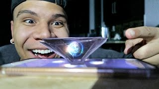 TURN ANY IPHONE INTO 3D HOLOGRAM!! (DIY)