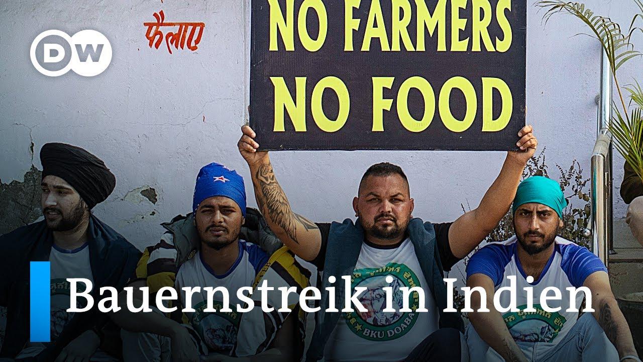 Download Bauernproteste legen Indiens Hauptstadt Neu Delhi lahm   DW Nachrichten
