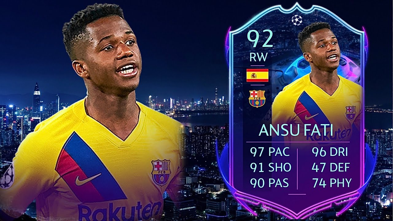 Fifa 20 Ansu Fati 92 Rttf Road To The Final Player Review I Fifa 20 Ultimate Team Youtube