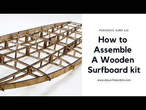 How to Assemble a Hollow Core Surfboard Frame Kit / Stand Up Paddle Board Frame Kit
