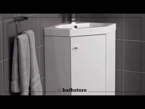 Alpine Duo 420 basin and corner vanity unit
