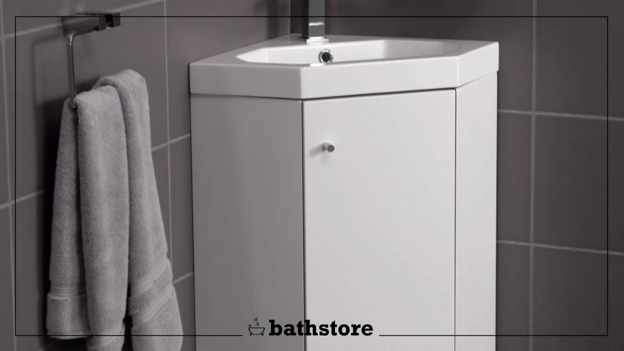 Corner Basin And Vanity Unit : Alpine Duo 420 basin and corner vanity unit - YouTube