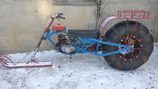 Ремонт снежного мотоцикла и немного покатушек.