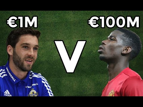 €1Million Footballer v €100Million Footballer | Will Grigg v Pogba!