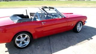 Dream Red Mustang 1966