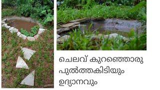 Garden around a little pond/My messy garden/ Shade area garden/ How to make a garden Malayalam
