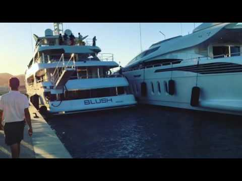 BLUSH Sunseeker 155/47M yacht docking in Marina Ibiza