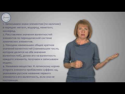 Химия 8 Валентность химических элементов  Определение валентности по формулам соединений  Составлени