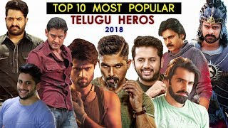 Top 10 Most Popular Telugu Actors - 2018 (New)