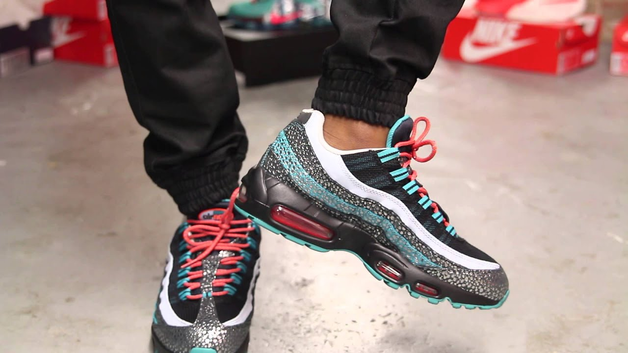 nike dames air max 95 premium safari with suraj