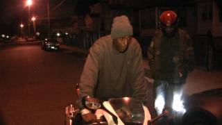 mazaradi fox show off his g unit bike