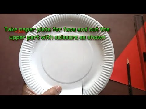How to make simple Santa Claus from paper plate l handmade projects l Christmas 2019 special l DIY